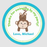 Monkey Birthday Party Favour Stickers