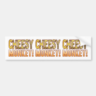Monkey Blue Cheesy Bumper Sticker