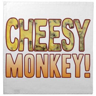 Monkey Blue Cheesy Napkin