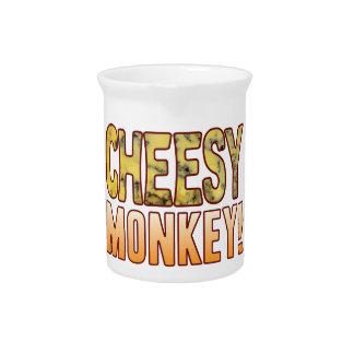 Monkey Blue Cheesy Pitcher
