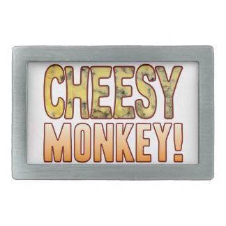 Monkey Blue Cheesy Rectangular Belt Buckles