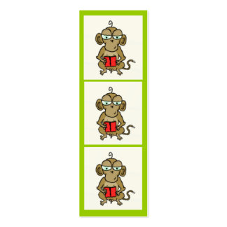 Monkey Bookmark Pack Of Skinny Business Cards