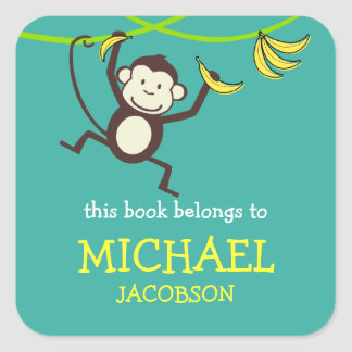 Monkey Bookplates / School Labels