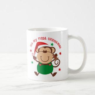 Monkey Boy 1st Christmas Mugs
