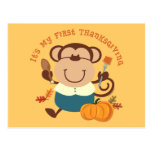Monkey Boy 1st Thanksgiving Postcard