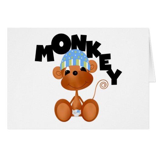 MONKEY Boy Tshirts and Gifts Greeting Card