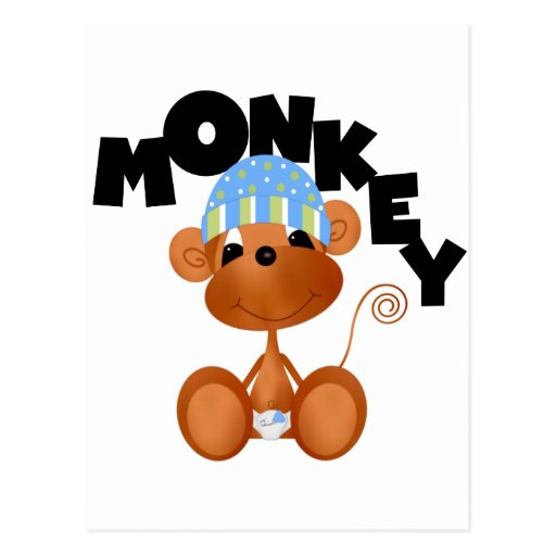 MONKEY Boy Tshirts and Gifts Post Cards