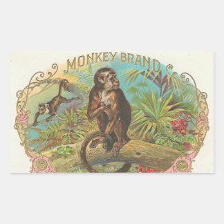 Monkey Brand Rectangular Sticker