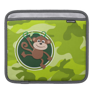 Monkey; bright green camo, camouflage sleeve for iPads
