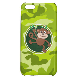 Monkey bright green camo camouflage case for iPhone 5C