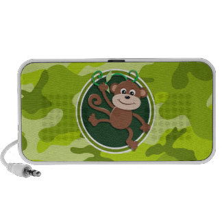 Monkey; bright green camo, camouflage portable speakers