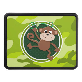 Monkey; bright green camo, camouflage trailer hitch cover