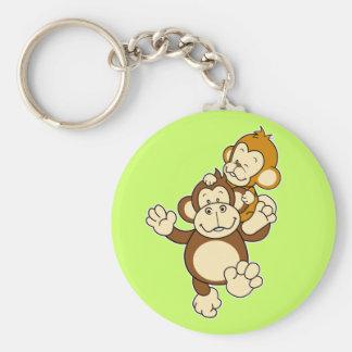 Monkey Brothers Keuchain Basic Round Button Key Ring