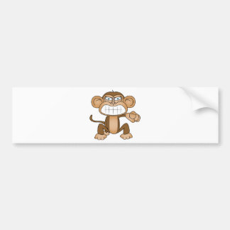 Monkey Bumper Sticker