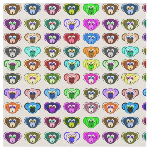Monkey Bunch Colourful Cartoon Monkeys Kids Fabric