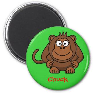 Monkey business 6 cm round magnet