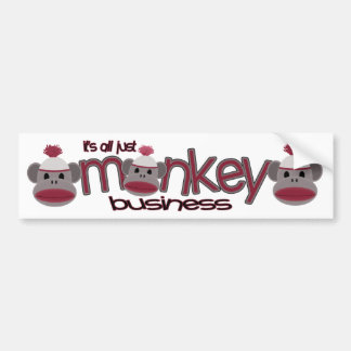 Monkey Business Bumper Sticker