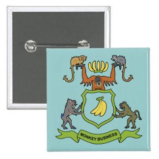 Monkey Business Heraldic - Button
