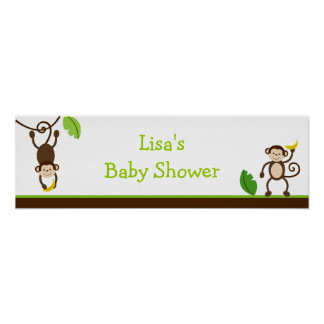Monkey Business Jungle Birthday Banner Sign Poster
