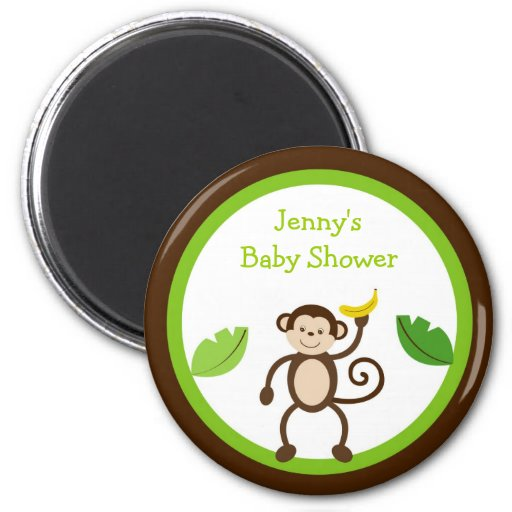 Monkey Business Jungle Party Favor Magnets