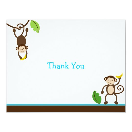 Monkey Business Jungle Thank You Note Cards