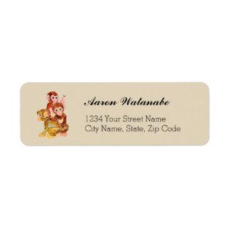 """Monkey Business"" Return Address Label"