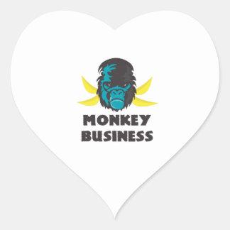 Monkey Business Heart Stickers