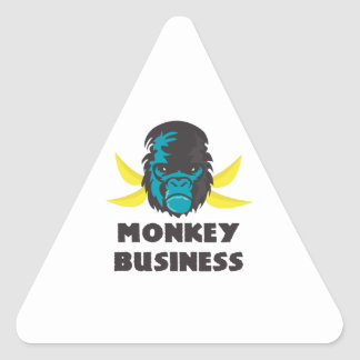 Monkey Business Triangle Stickers