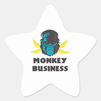 Monkey Business Star Sticker