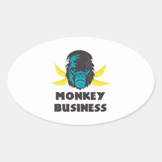Monkey Business Oval Stickers