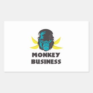 Monkey Business Rectangle Sticker