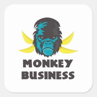 Monkey Business Square Sticker