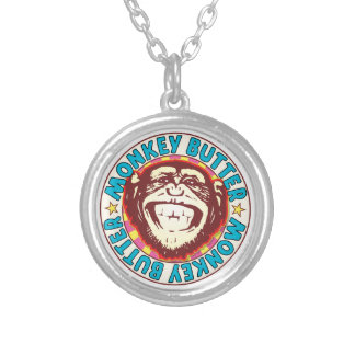 Monkey Butter Round Pendant Necklace