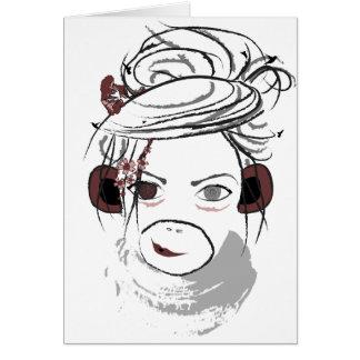 monkey. stationery note card
