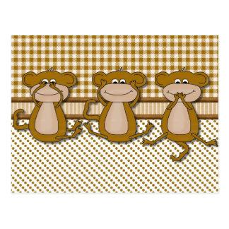 Monkey Cards 1 Postcard