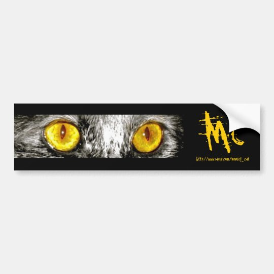 Monkey Cat Bumper Sticker