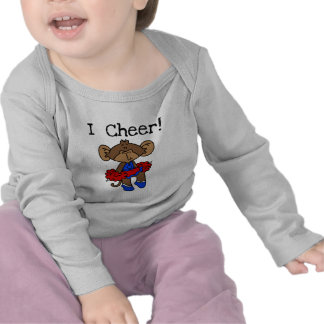 Monkey Cheerleader Blue and Red Tshirts and Gifts