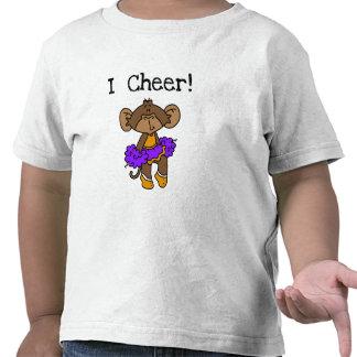 Monkey Cheerleader Gold and Purple T-shirt