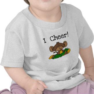 Monkey Cheerleader Green and Gold Tshirts
