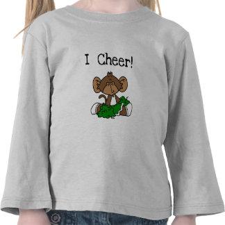Monkey Cheerleader Green and White Tshirts