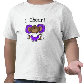 Monkey Cheerleader Purple and White Tshirt
