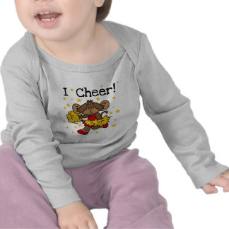 Monkey Cheerleader Red and Gold T-shirts and Gifts