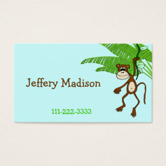 Monkey Children's Calling Card