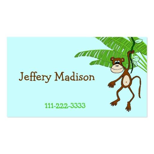 Monkey Children's Calling Card Business Card Template