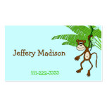 Monkey Children's Calling Card Business Cards