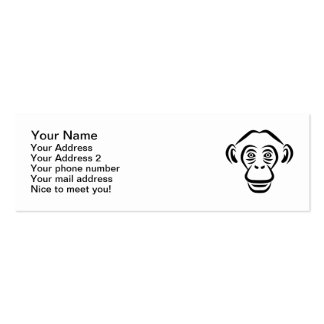 Monkey chimpanzee head pack of skinny business cards