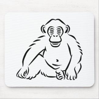 Monkey chimpanzee mousepads