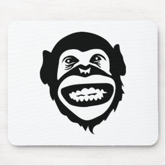 Monkey chimpanzee smile mouse pad
