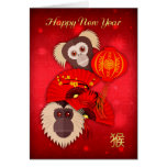 Monkey, Chinese New Year, Year of the Monkey Card
