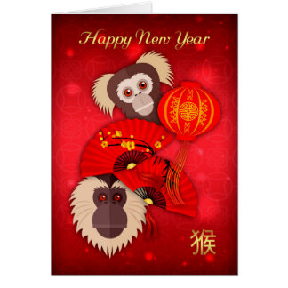 Monkey, Chinese New Year, Year of the Monkey Card